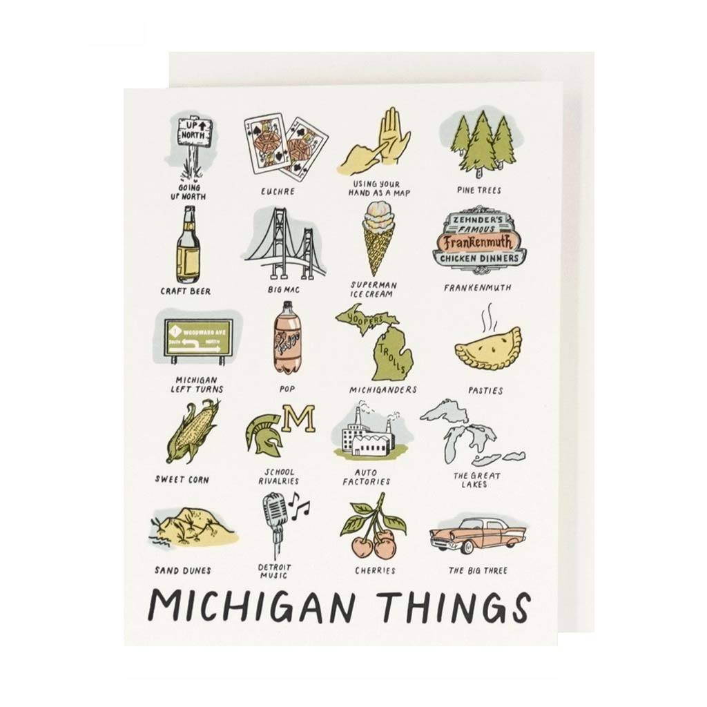 Michigan Things Card