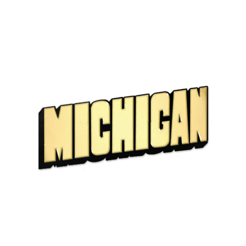 Michigan Block Letters Enamel Pin