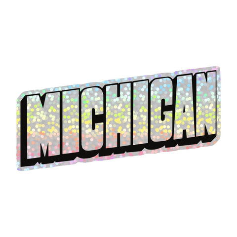 Michigan Hologram Vinyl Sticker