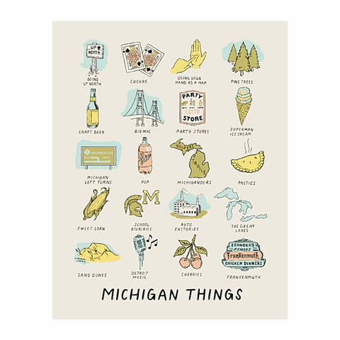 Michigan Things Print