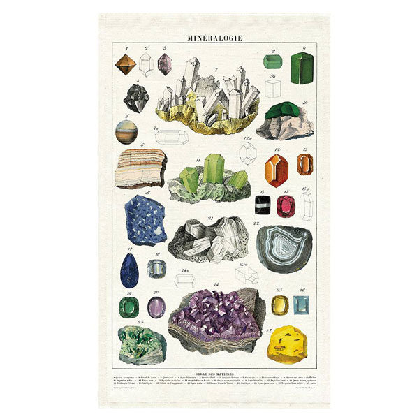 Mineralogy Tea Towel - City Bird