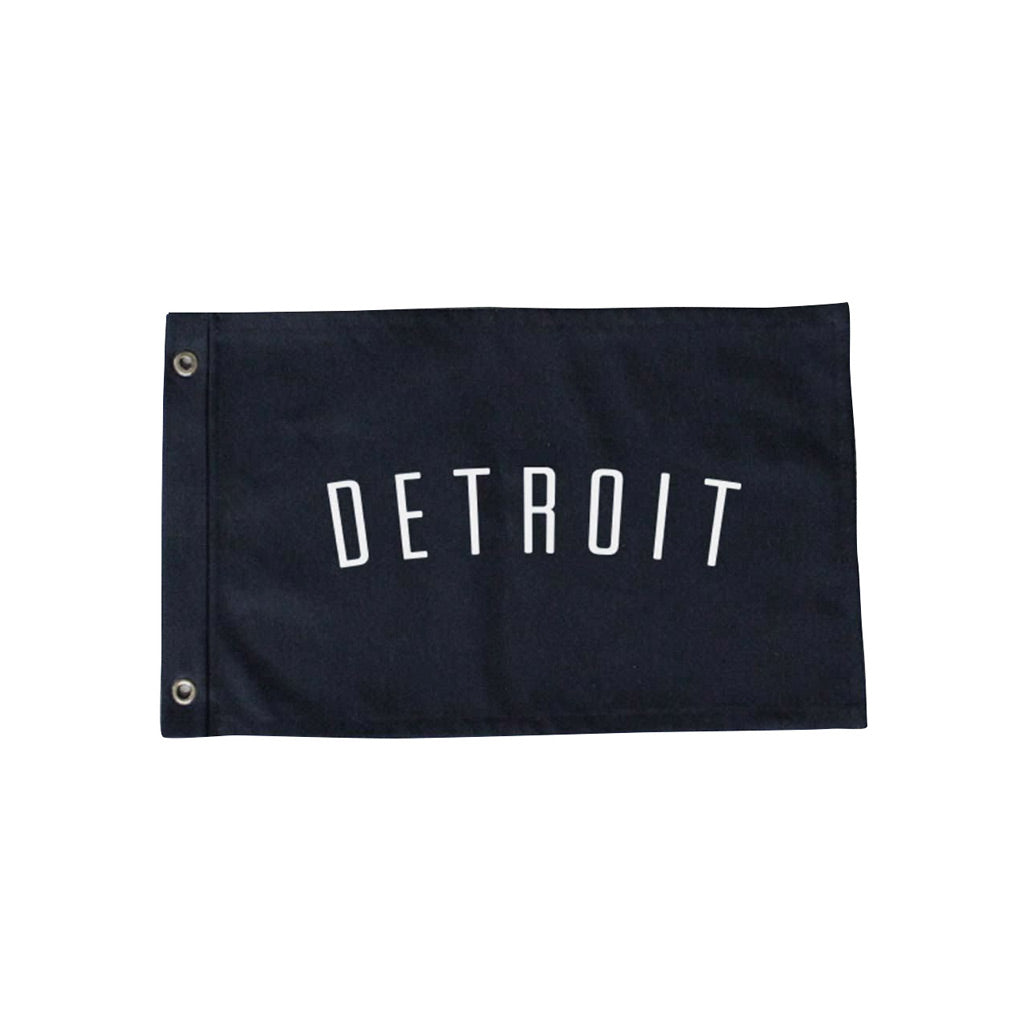 Black Detroit Flag - City Bird