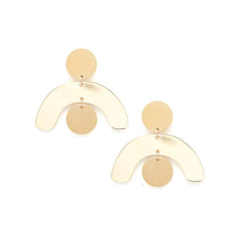 Mobile Gold Earrings - City Bird