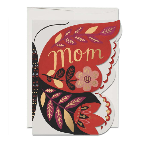 Butterfly Mom French Fold Foil Mother's Day Card - City Bird