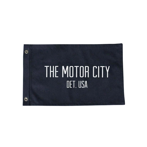 Black Motor City Flag - City Bird