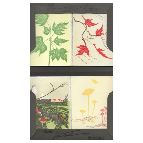 Leaves and Mushrooms - Small Notecard Set - City Bird