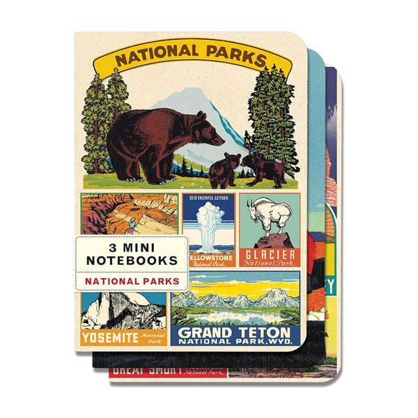 National Parks - 3 Mini Notebooks - City Bird