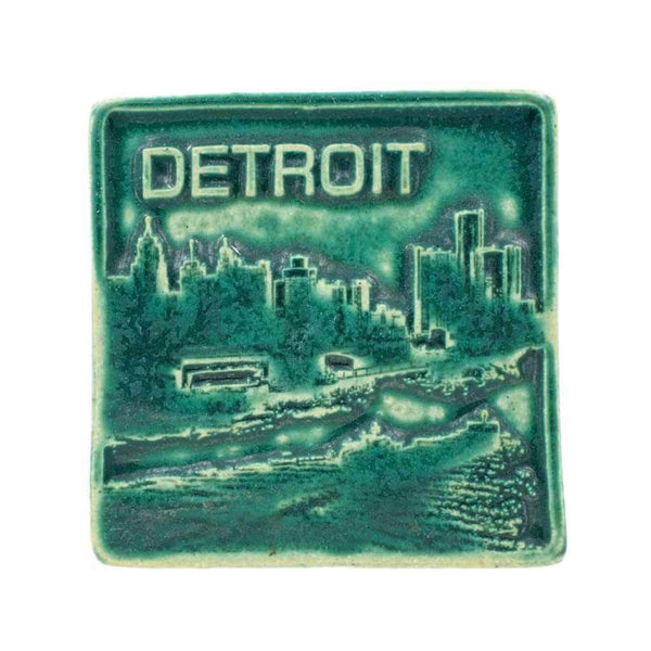 "New Detroit Pewabic Tile, 4""x4"" - City Bird"