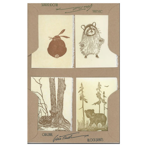 Raccoons and Bears - Small Notecard Set - City Bird