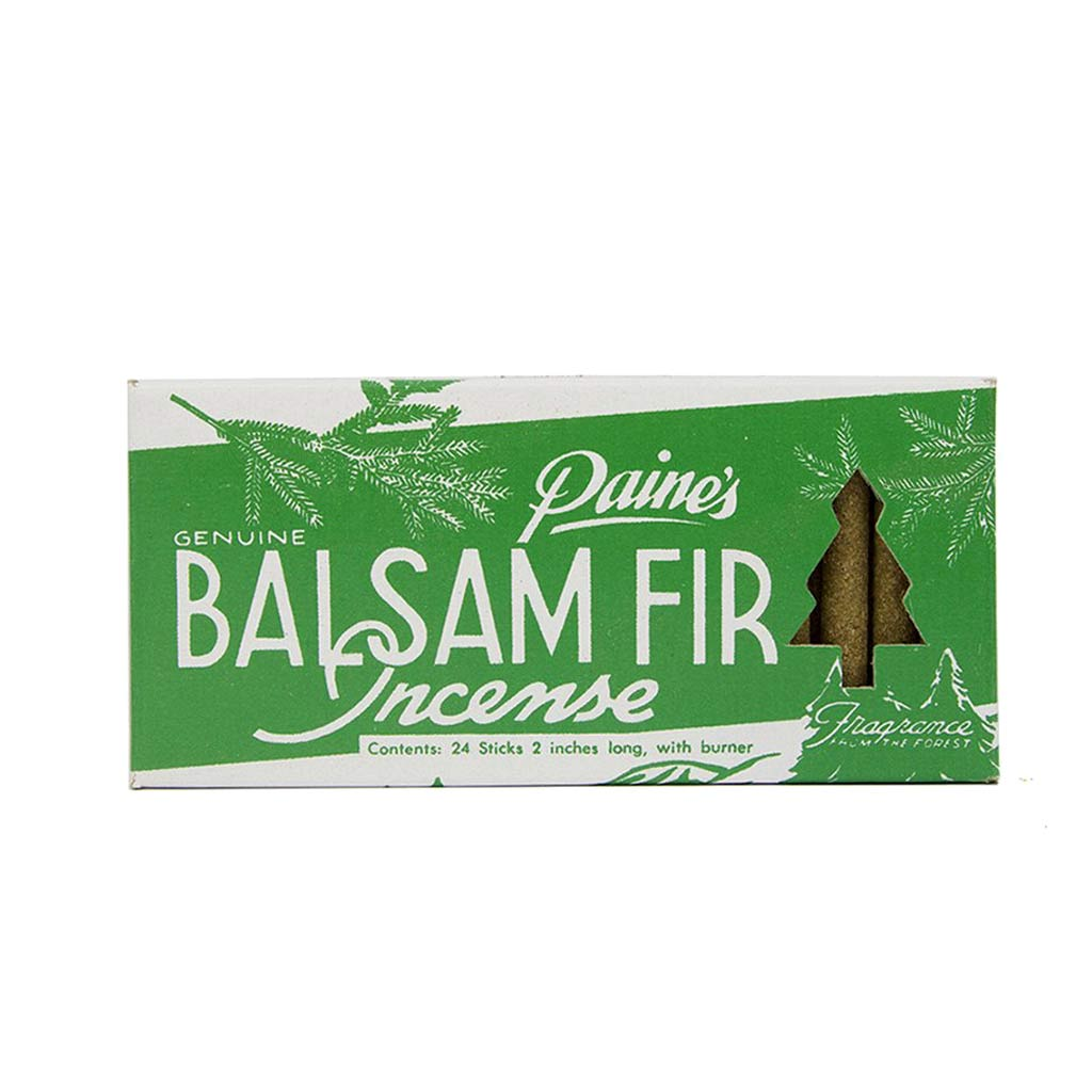 Balsam Fir Incense Sticks & Holder -24pc - City Bird