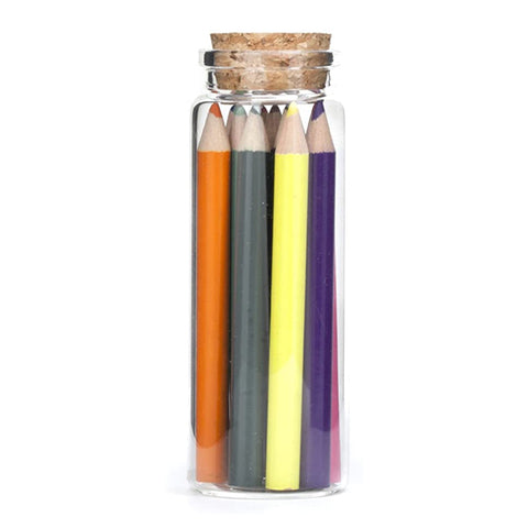 Colored Pencil Set in Glass Jar - City Bird