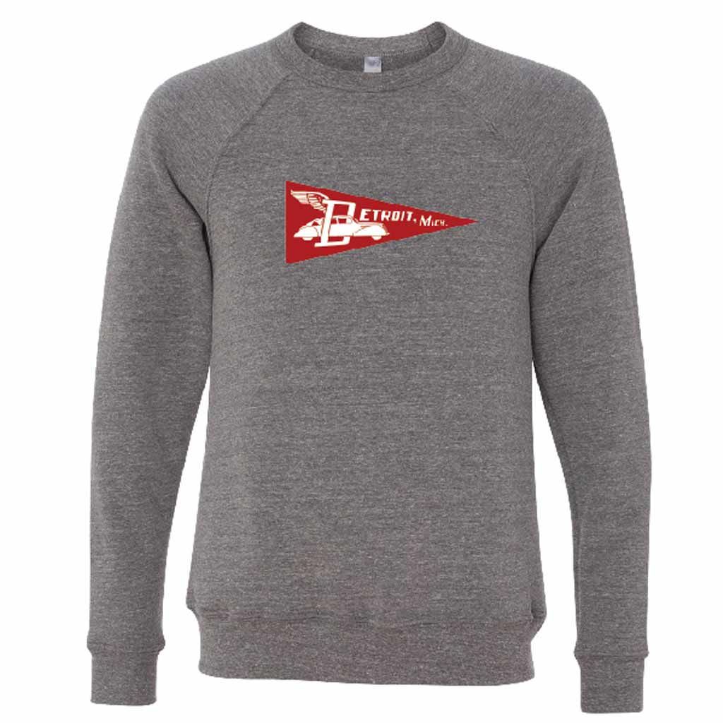 Detroit Pennant Crewneck Sweatshirt - City Bird