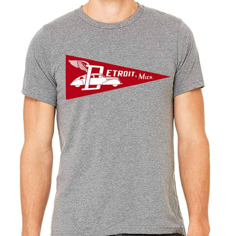 Detroit Pennant T-Shirt - City Bird