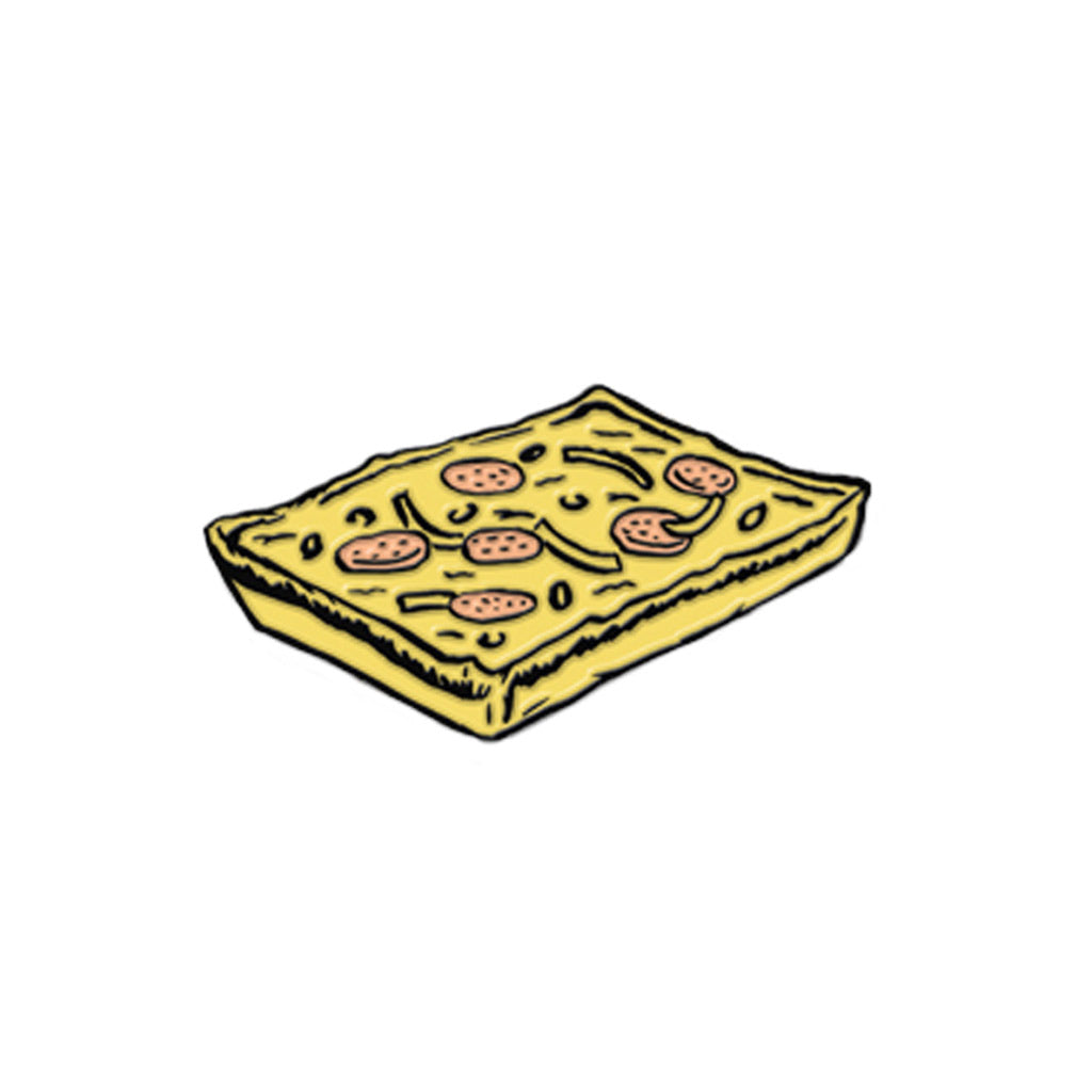 Detroit Square Pizza Enamel Pin - City Bird