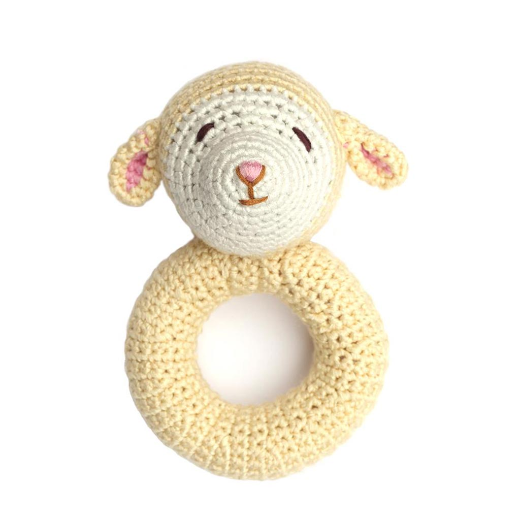 Lamb Ring Rattle - City Bird