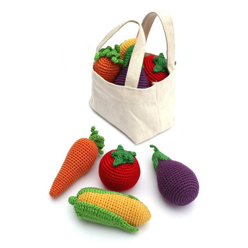 Crocheted Veggies Rattle - Set of 4 - City Bird