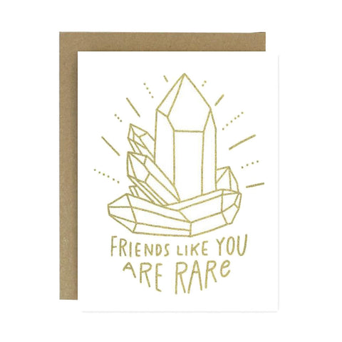 Friends Like You Are Rare Card - City Bird