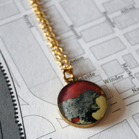 Rebel Nell Brass Grafitti Necklace - City Bird