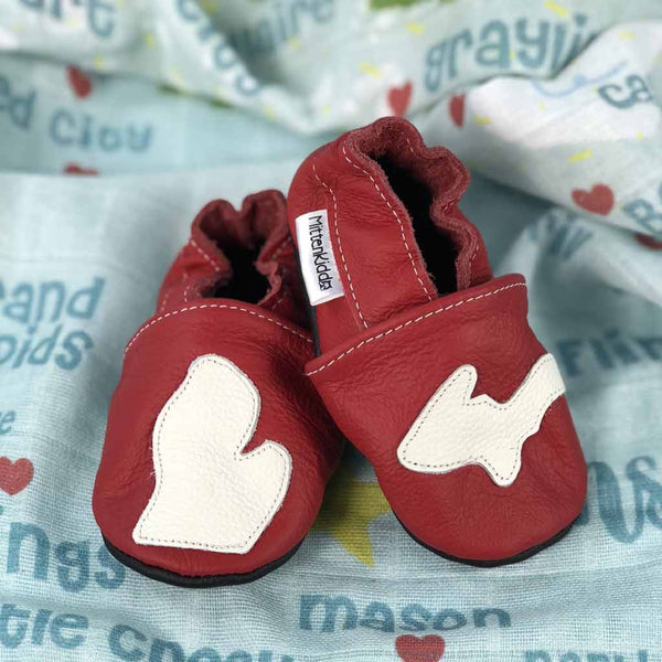 Michigan Mitten Kiddo Baby Shoes - City Bird