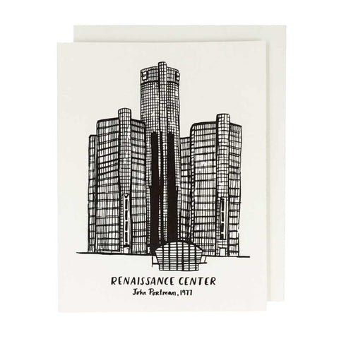 Renaissance Center Letterpress Card - City Bird