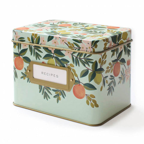Citrus Floral Recipe Box - City Bird