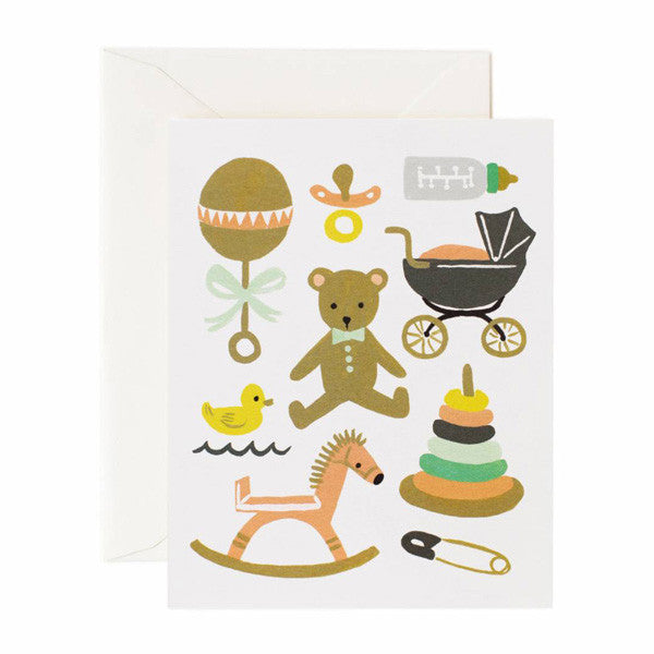 Classic Baby Card - City Bird