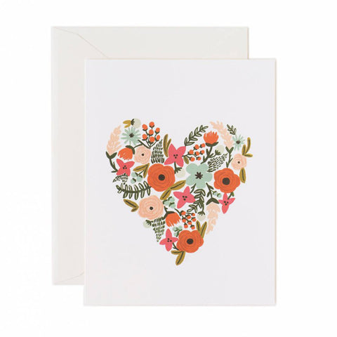 Floral Heart Card - City Bird