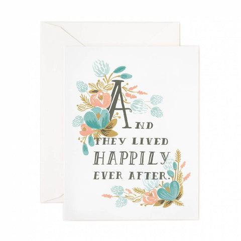 Happily Ever After Wedding Card - City Bird