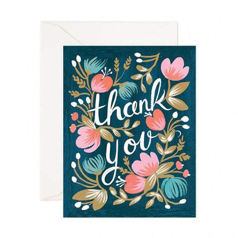 Midnight Garden Thank You Card - City Bird