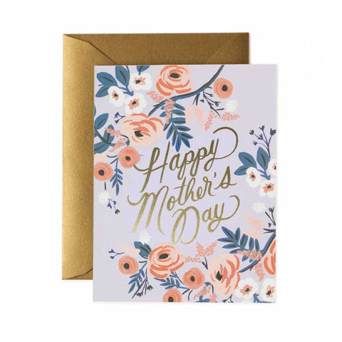 Rosy Mother's Day Card - City Bird