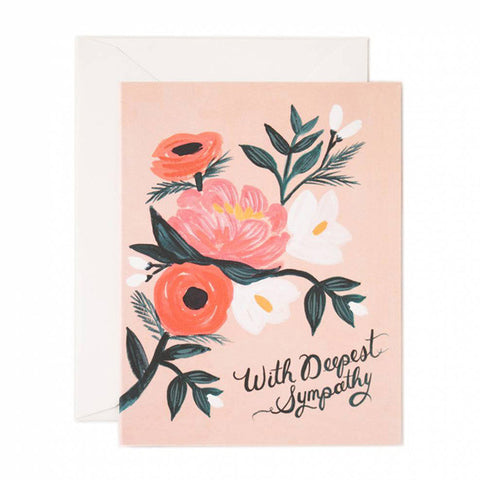 With Deepest Sympathy Card - City Bird