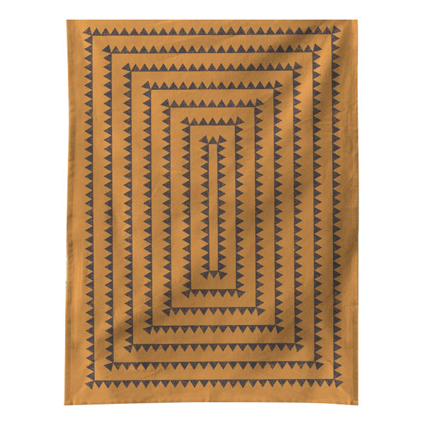 Sawtooth Towel - Ochre