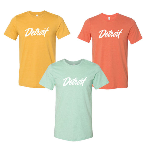 Vintage Detroit Script T-Shirt - City Bird