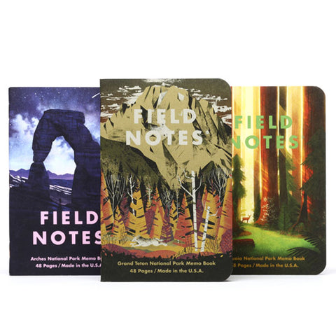 National Parks Notebooks - Grand Teton, Arches, Sequoia
