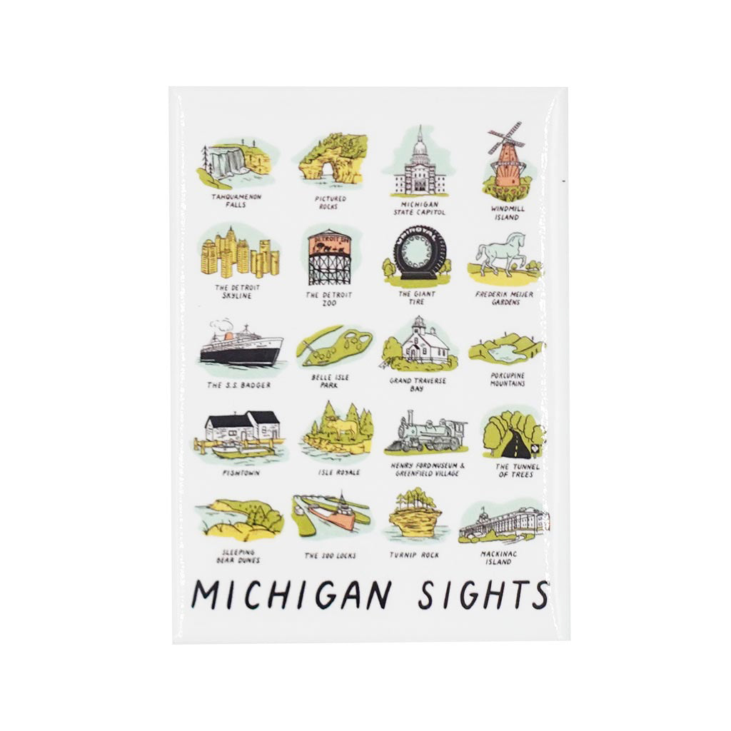 Michigan Sights Magnet