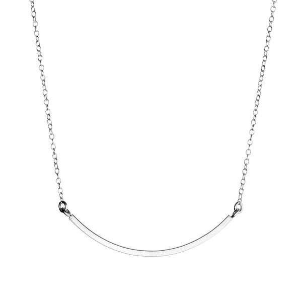 Small Curve Necklace - Silver - City Bird