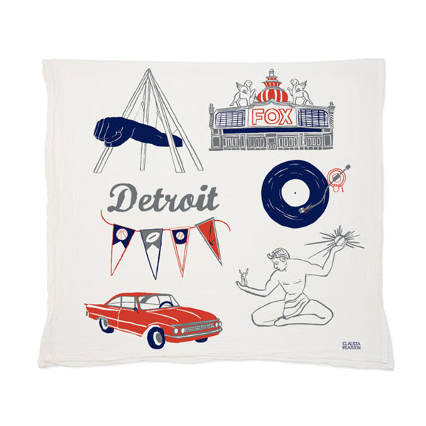 Detroit Tea Towel - City Bird
