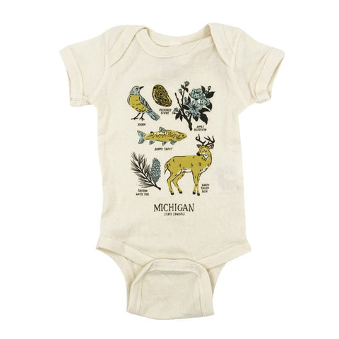 Michigan State Symbols Onesie - City Bird