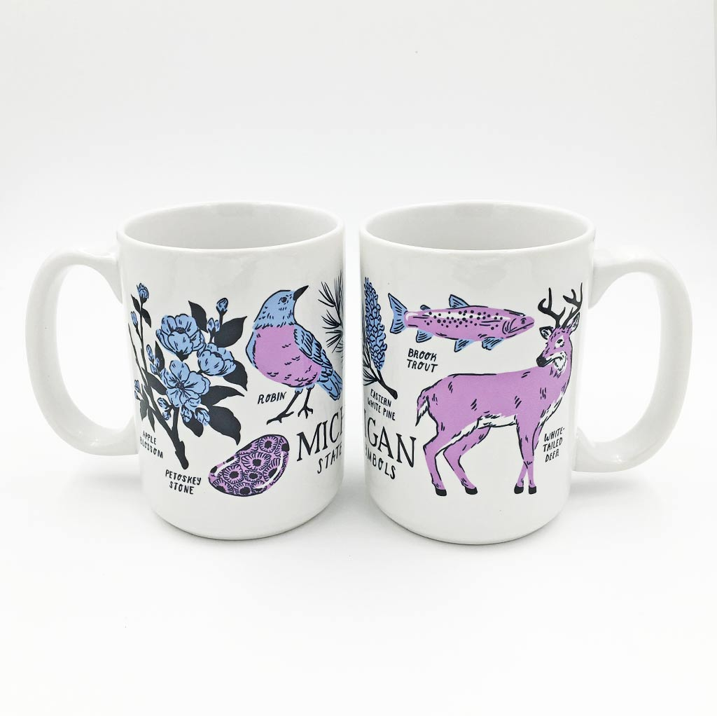 Michigan State Symbols Mug - Studio Second