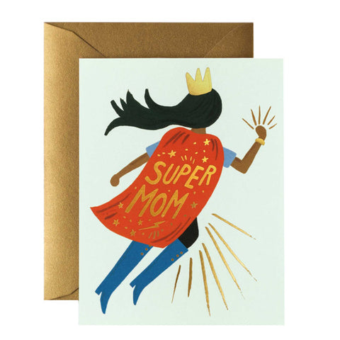 Super Mom Blue Card - City Bird