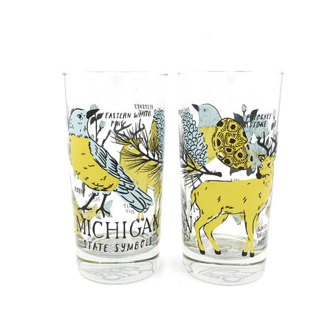 Michigan State Symbols Glass - City Bird