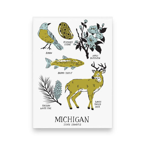 Michigan State Symbols Magnet - City Bird
