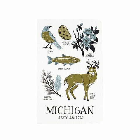 Michigan State Symbols Notebook - City Bird