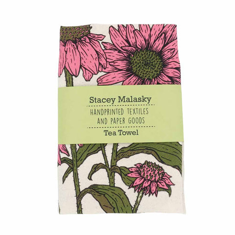 Echinacea Tea Towel - City Bird