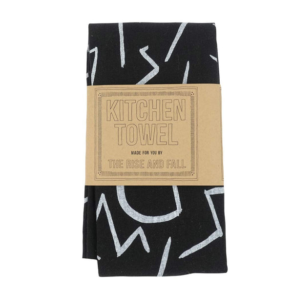Glyphs Towel - Black - City Bird