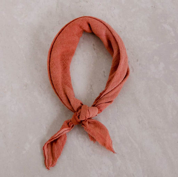 Naturally Dyed Cotton Gauze Bandanas - City Bird