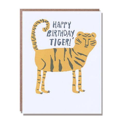 Happy Birthday Tiger Card - City Bird