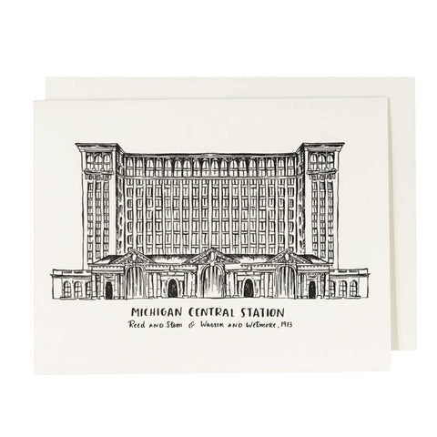 Michigan Central Station Letterpress Card