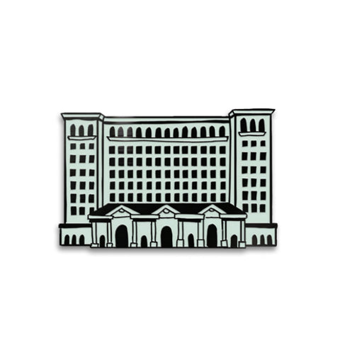 Michigan Central Train Station Enamel Pin