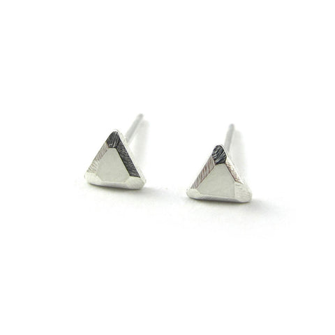 Sterling Silver Triangle Studs - City Bird